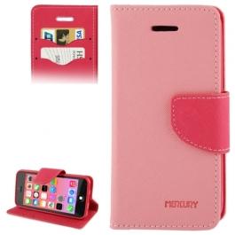 housse iPhone 5C rabat porte-cartes intégré - Rose