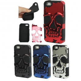 Coque Crâne chrome iPhone 5