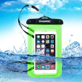 housse waterproof iPhone 5 / 5S / SE HAWEEL transparente - vert