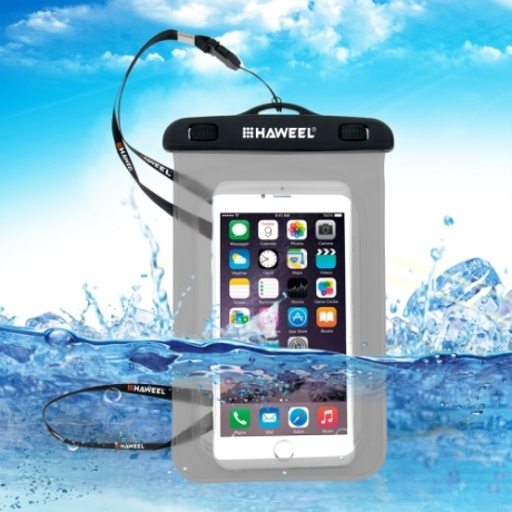 housse waterproof iPhone 5C HAWEEL transparente - noir