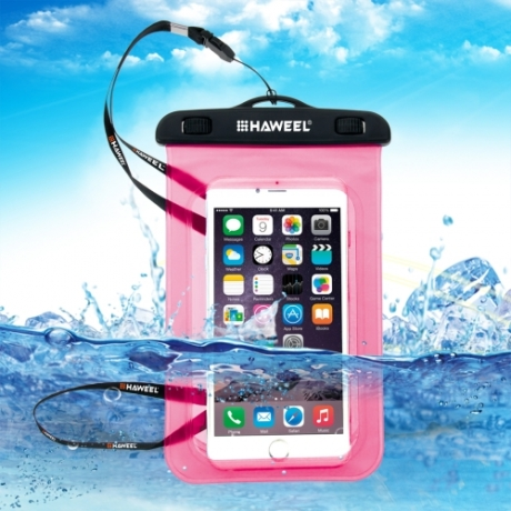 housse waterproof iPhone 5C HAWEEL transparente - rose