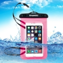 Housse waterproof iPhone 5C transparente - rose