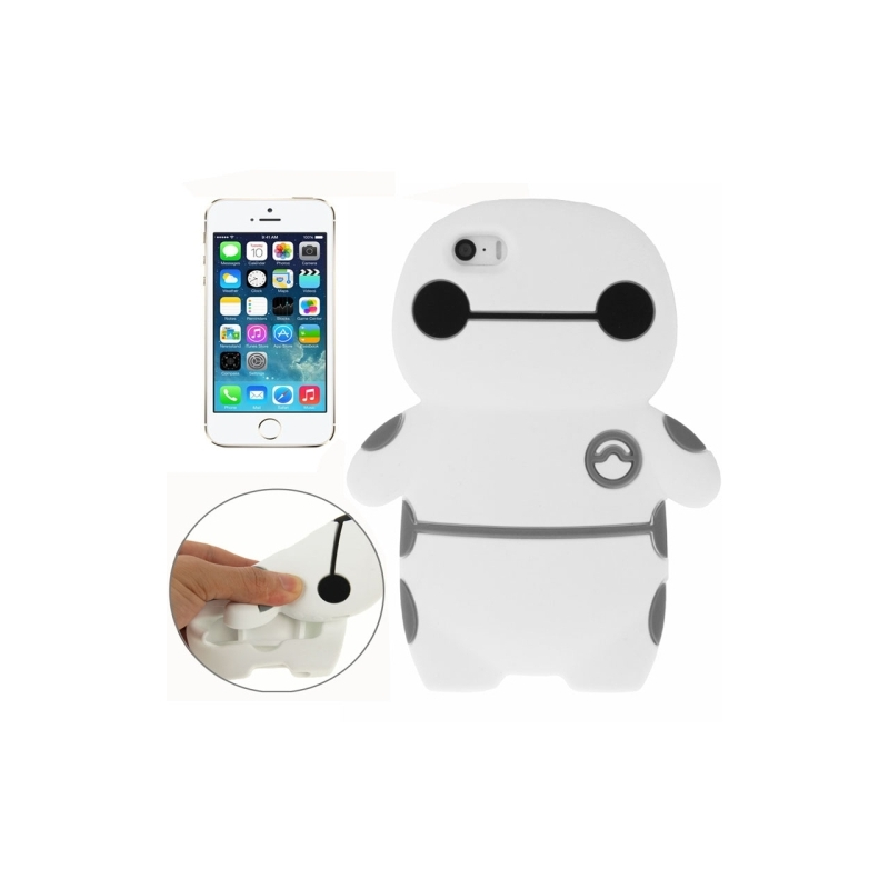 coque iphone 5 5s se silicone 3d robot