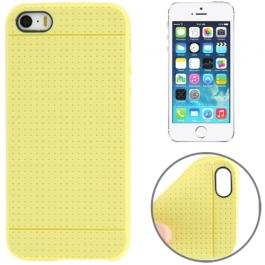 coque iPhone 5 / 5S / SE silicone motif petits points - jaune