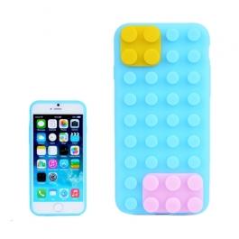 coque iPhone 6 plus / 6S plus silicone block - bleu ciel