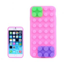coque iPhone 6 plus / 6S plus silicone block - magenta