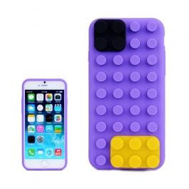 coque iPhone 6 plus / 6S plus silicone block - violet