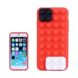 coque iPhone 6 plus / 6S plus silicone block - rouge
