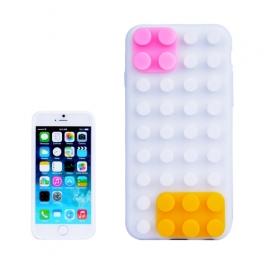 coque iPhone 6 plus / 6S plus silicone block - blanc
