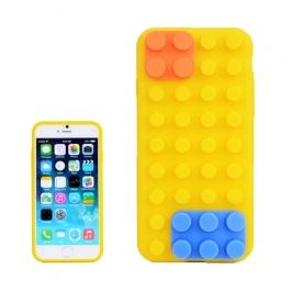 coque iPhone 6 plus / 6S plus silicone block - jaune