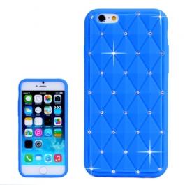 coque iPhone 6 plus / 6S plus silicone matelassé diamant - bleu