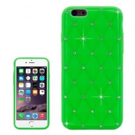 coque iPhone 6 plus / 6S plus silicone matelassé diamant - vert
