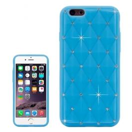 coque iPhone 6 plus / 6S plus silicone matelassé diamant - bleu ciel