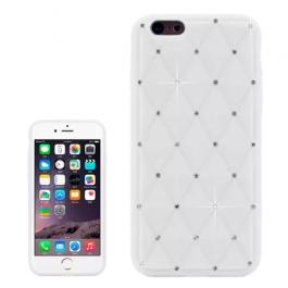 coque iPhone 6 plus / 6S plus silicone matelassé diamant - blanc