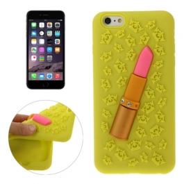 coque iPhone 6 plus / 6S plus silicone 3D rouge à lèvre – jaune