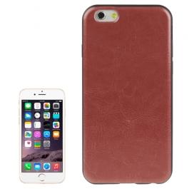 coque iPhone 6 plus / 6S plus texture cuir - rouge
