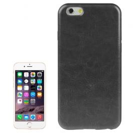 coque iPhone 6 plus / 6S plus texture cuir - noir