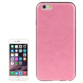 coque iPhone 6 plus / 6S plus texture cuir - rose