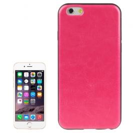 coque iPhone 6 plus / 6S plus texture cuir - magenta