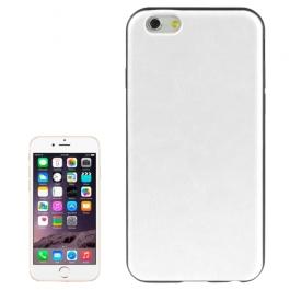 coque iPhone 6 plus / 6S plus texture cuir - blanc