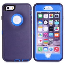 coque iPhone 6 plus / 6S plus bicolore anti-choc - bleu / bleu marine
