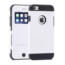 Coque iPhone 6 / 6S à rabat tactile - Blanc