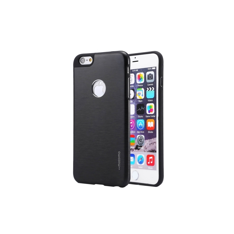 coque iphone 6 6s logo apple noir mobile store. Black Bedroom Furniture Sets. Home Design Ideas