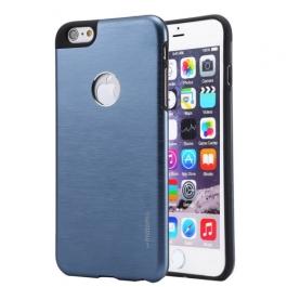 Coque iPhone 6 / 6S MOTOMO logo Apple - bleu