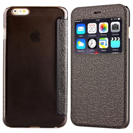 coque rabat noir iphone 6