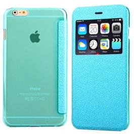 Coque iPhone 6 / 6S à rabat fenêtre porte-cartes - Bleu