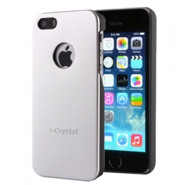 Coque iPhone 5 / 5S / SE i-Crystal - Argent