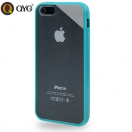 Coque iPhone 5 / 5S / SE Q-case transparente - Turquoise