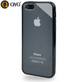 Coque iPhone 5 / 5S / SE Q-case transparente - Noir