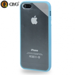 Coque iPhone 5 / 5S / SE Q-case transparente - Bleu