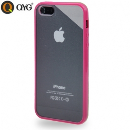 Coque iPhone 5 / 5S / SE Q-case transparente - Magenta