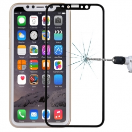 Verre trempé 4D iPhone X (Noir)