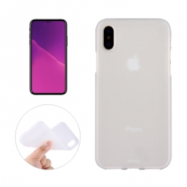 Coque iPhone X en silicone souple (Blanc)