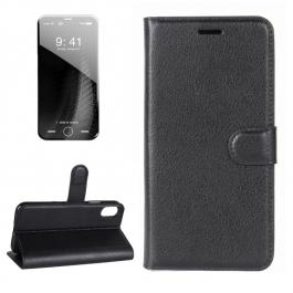 Housse porte-cartes en cuir iPhone X (Noir)