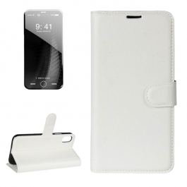 Housse porte-cartes en cuir iPhone X (Blanc)