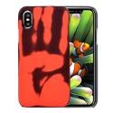 Coque Thermo-Sensible (Couleur / Chaleur) iPhone X - Noir / Rouge