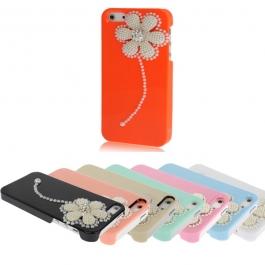 Coque Fleur Perles Diamant iPhone 5
