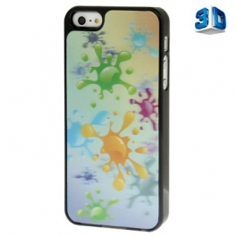 Coque couleurs splash 3D iPhone 5