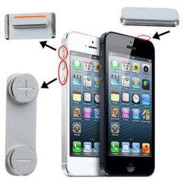 3 en 1 des boutons de : Volume + Muet + Power iPhone 5