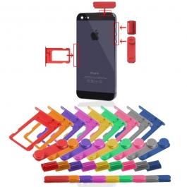 Kit boutons en couleur de remplacement iPhone 5 : Volume + Vibreur + Power + Tiroir