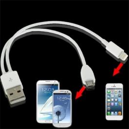 Câble 2 en 1 : Lightning iPhone 5 & Samsung S3