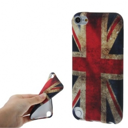 Coque drapeau UK / Royaume-Uni en silicone souple iPod Touch 5g