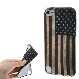 Coque drapeau USA / Etats-Unis en silicone souple iPod Touch 5g