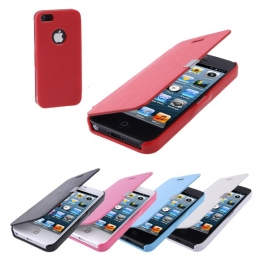 Etui de Protection Flip en cuir iPhone 5