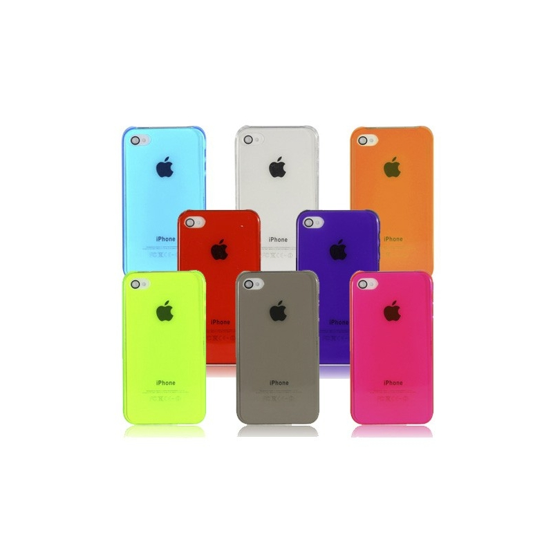 Coque iPhone semi-transparente Couleur iPhone 4, 4S - Mobile-Store