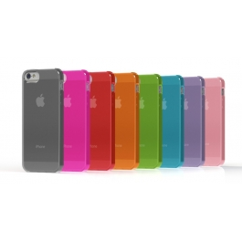 Coque iPhone semi-transparente Couleur iPhone 5